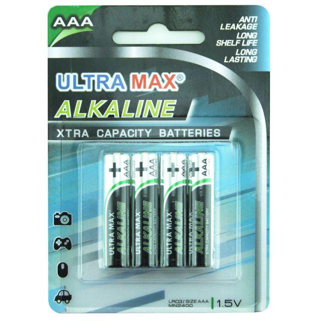 Ultra Max MN2400 AAA Alkaline Batteries