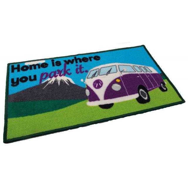 """Quest Washable """"Home Is Where You Park It"""" Camper Van Door Mat"""