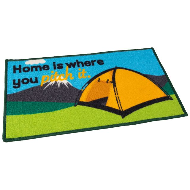 """Quest Washable """"Home Is Where You Pitch It""""  Tent Door Mat"""