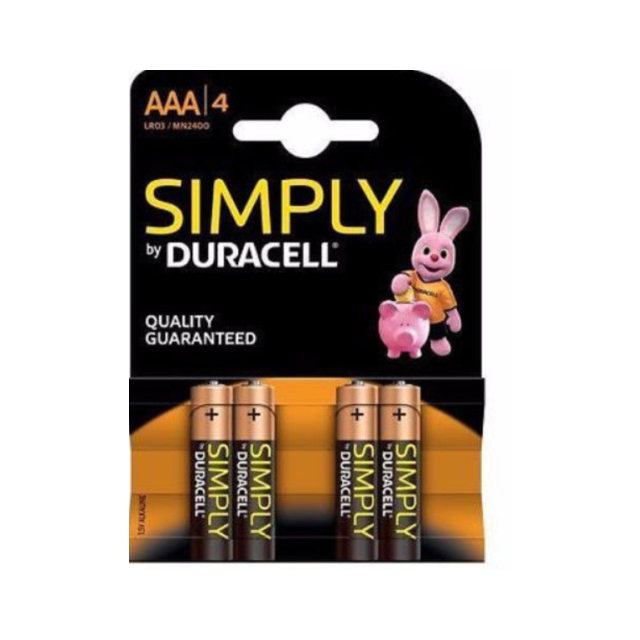 Duracell AAA Batteries (4 Pack)