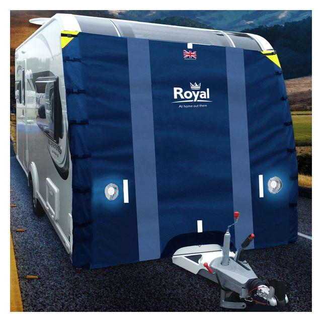 Royal Easy Fit Caravan Front Universal Cover (Dark Blue)