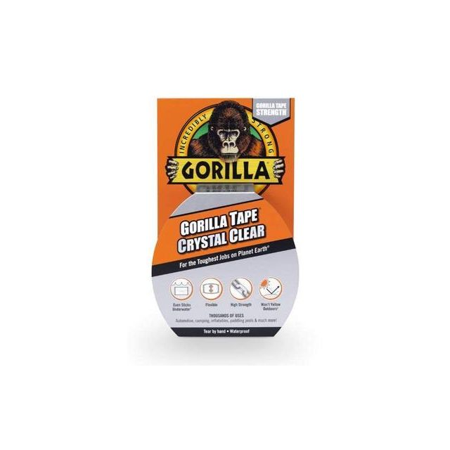 Gorilla Tape (Crystal Clear) 8.2m x 48mm